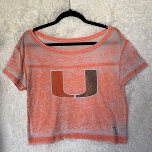 University of Miami Orange Crop Top Size Small
